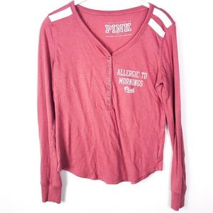 PINK Victoria's Secret Allergic To Mornings Shirt